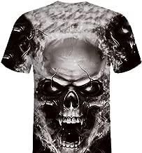 iLXHD Mens Skull 3D Printing Tees Shirt Short Sleeve T-Shirt Blouse Tops