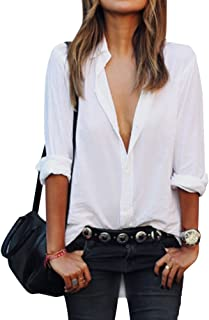 Women's OL Long Sleeve Casual Shirt Tops Button Down Blouse Slim Fit