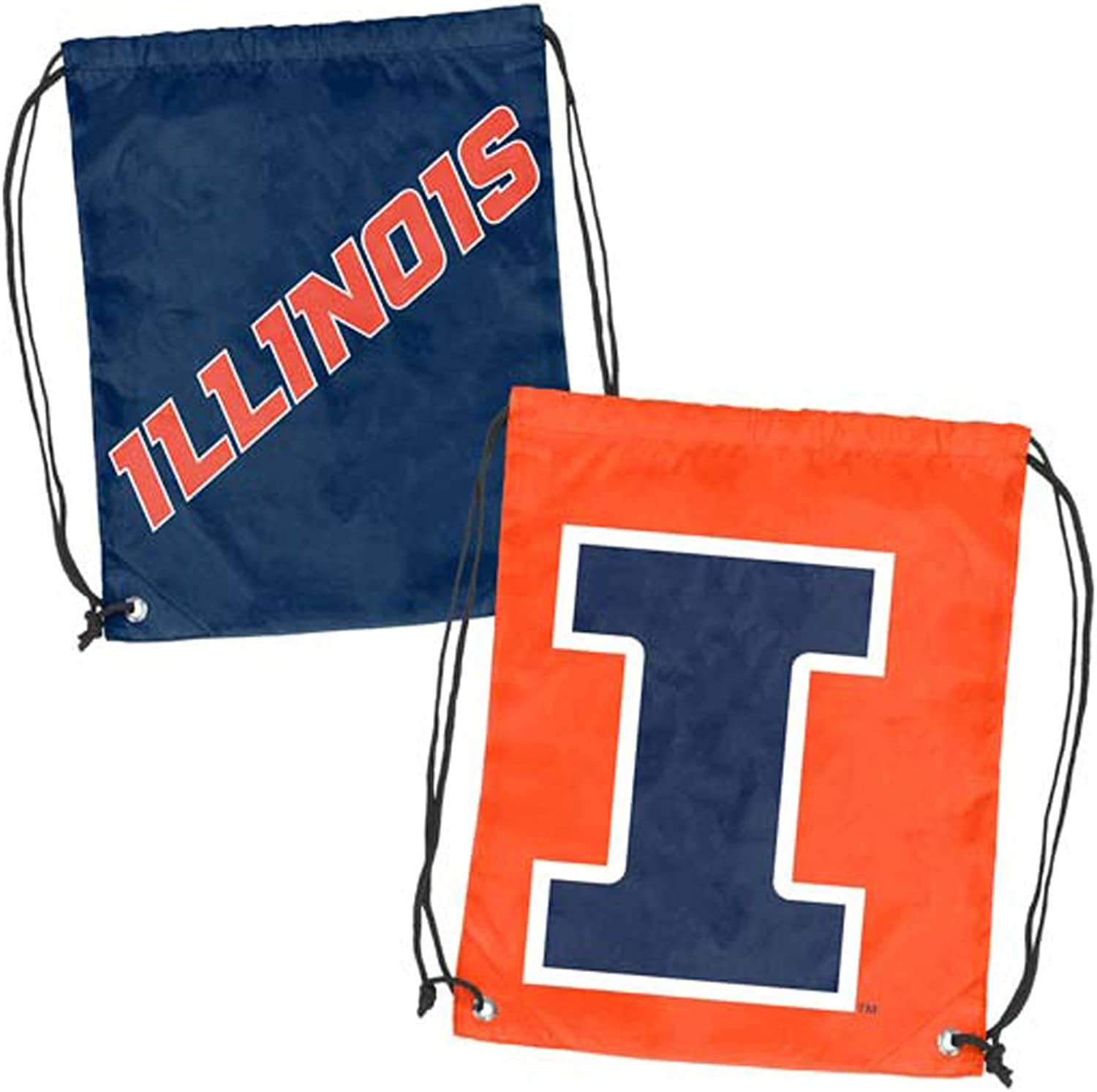 NCAA Illinois Doubleheader Back Sack, One Size, Multicolor