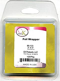 """CK Products Foil Wrappers, 3"""" x 3"""", Gold"""