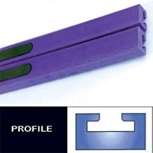 Profile #8 Teflon Slides - 52in. - Purple 1980 Ski-Doo Blizzard 7500 Plus Snowmobile