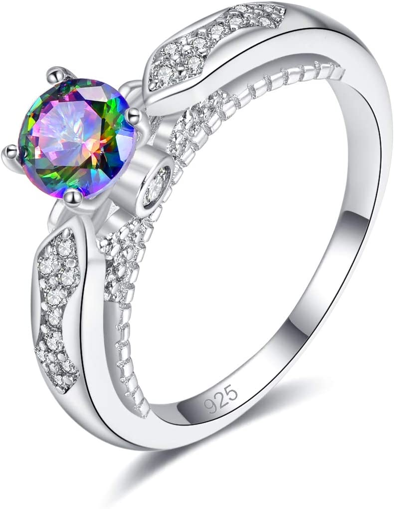Neon Crystal Filigree Ring Size 9