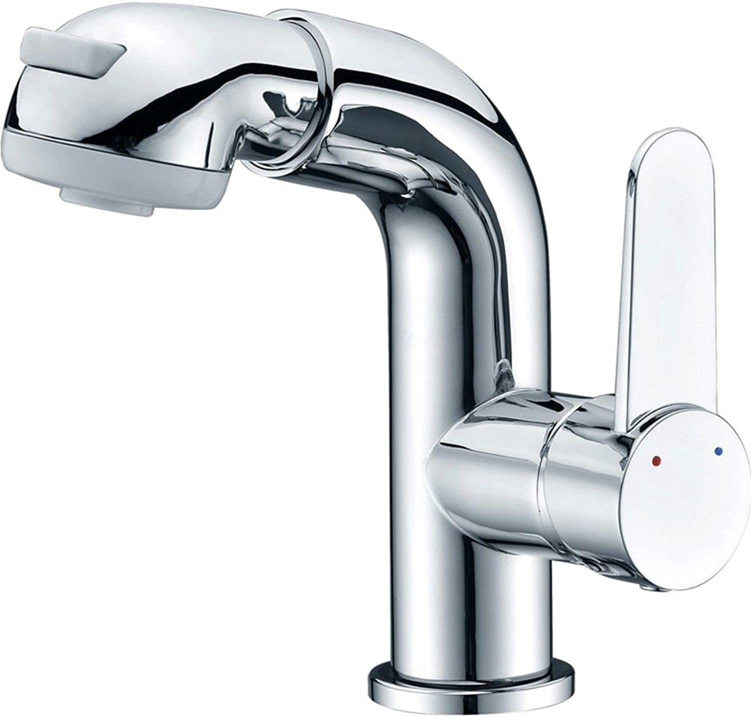 Lalaky Taps Faucet Kitchen Mixer Sink Waterfall Bathroom Mixer Basin Mixer Tap for Kitchen Bathroom and Washroom Copper Hot Water Nozzle