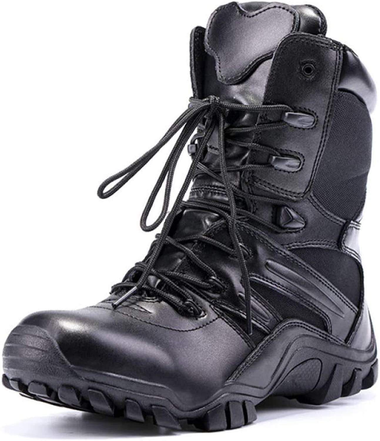 DSFGHE Boots Men's Martin Military Tactical Boots Chelsea Waterproof Hiking Combat Boots Army Work Boots