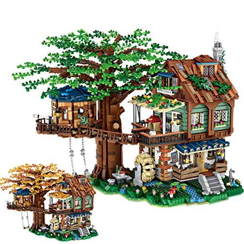 ReallyPow Baumhaus, Baumhaus Treehouse Mini-Steine Bausteine Spielzeug Nicht Kompatibel mit Lego - 4761 Teilen