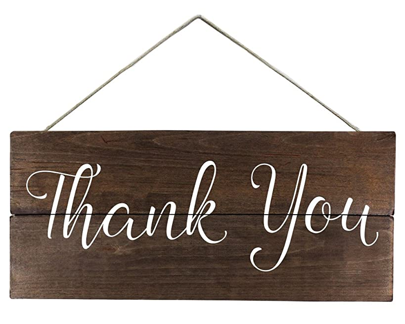 Elegant Signs Thank you sign for photo prop