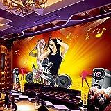 Fondo de pantalla_ktv Mural Sexy Beauty Monroe Bar Zenith Box Background papel pintado a papel pintado pared dormitorio autoadhesivo-350cm×256cm