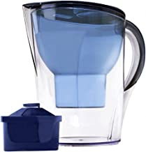 Lake Industries Premium Great Tasting Alkaline Water Pitcher with Filter Patented 7 Stage System is The Clear Choice to Purify Water & Remove Acidity - 3.5 Liters