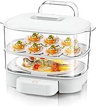 XJJZS Cuiseur à vapeur électrique multifonctionnel domestique cuiseur à vapeur électrique chauffe-plats cuiseur à vapeur é...