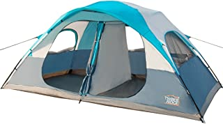 Timber Ridge 8 Person Family Camping Tent 2 Doors 2 Rooms 3 Seasons with Carry Bag and Rain Fly