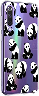 Suhctup Funda Compatible para Xiaomi Mi 6XCarcasa Transparente Dibujos Animal Suave Silicona TPU Gel Bumper Ultra Pulgada Antigolpes Crystal Clear Protector Piel Case CoverPanda 6
