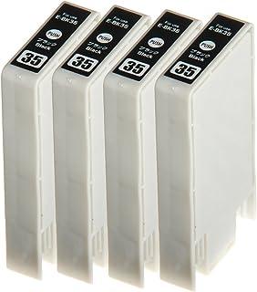 【ノーブランド品】(4 ICBK35) Epson IC35,IC6CL35 ICBK35 PM-A900, PM-A950, PM-D1000 【互換インクカートリッジ 】