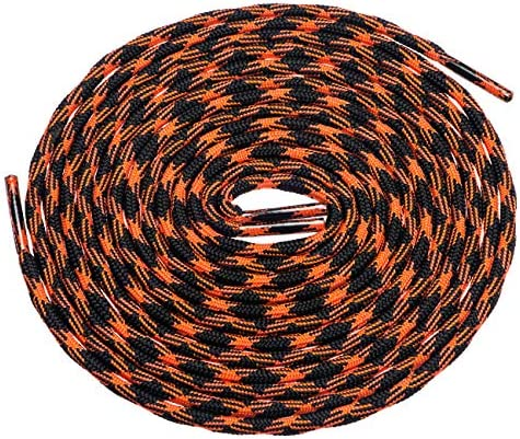 Birch s 3 16 Thick Special Wave Design Round Boots Shoelaces Solid and Two Tone Colors 47 120 product image