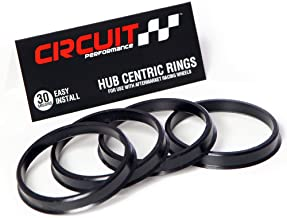 73.1mm OD to 67.1mm ID Circuit Performance Black Plastic Polycarbonate Hub Centric Rings