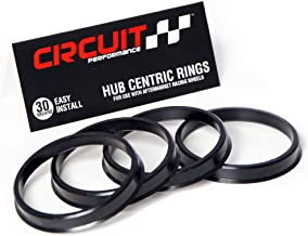 Circuit Performance 73.1mm OD to 57.1mm ID Black Plastic Polycarbonate Hub Centric Rings