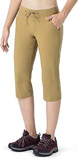 Naviskin Women's Hiking Capri Pants UPF 50+ Water Repellent Outdoor Camping Pants