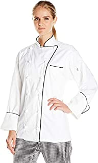 Uncommon Threads Unisex-Adult's Plus Size Versailles White W/Black Piping