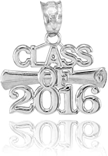 925 Sterling Silver Diploma Class of 2016 Graduation Charm Pendant