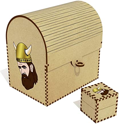 Azeeda  Viking Head  Treasure Chest Jewellery Box  TC00041268