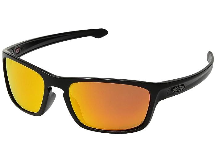 Oakley Sliver Stealth (Matte Black w/ Prizm Ruby Polarized) Sport Sunglasses
