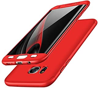 Galaxy S7 Edge Case, ACMBO 3 in 1 Ultra Thin Slim Fit Front & Back Protection Anti-Scratch Shockproof Hard PC Plastic Bumper Protective Back Case Cover for Samsung Galaxy S7 Edge G9350, Red