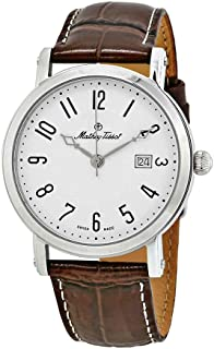 Mathey-Tissot City White Dial Brown Leather Men's Watch H611251AG