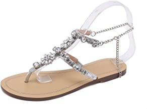 Best flat sandals with crystals Reviews