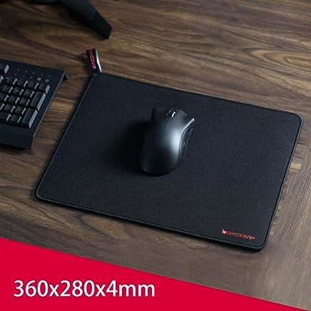 Alfombrilla para ratón Exco Gaming Tamaño grande (360 × 280 × 4 mm), Alfombrilla para ratón con tapete extendido , Base de goma antideslizante, Superficie texturizada lisa especial, Bordes de costura duraderos, Soporte de computadora, PC y computadoras portátiles - Negro
