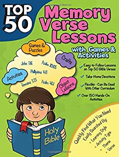 Top 50 Memory Verses with Lessons with Games and Activities