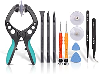 Kaisi LCD Screen Opening Toolkit Screen Suction Cup Pliers Repair Kit for Open Electronics Screen and Shell Compatible for iPhone, iPad, Tablets, Cell Phone and More Smooth Surface Screen - 11Pcs