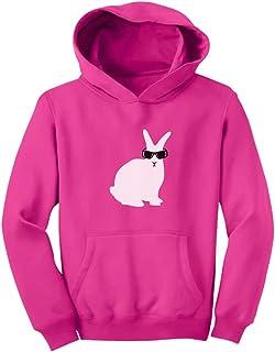 Tstars - キュート白いウサギさんギフト かわいい白うさぎプレゼント スイートウサギのプレゼント ユニーク白ウサギ贈り物 キッズパーカー