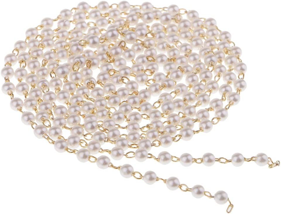 Segolike 1 Meters 3mm Fishing Chain Imitation Artificial Animer and price revision Pearl B Ultra-Cheap Deals
