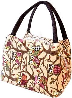 Insulated Purse Tote Zebra Pattern Two Lumps of Sugar Mini Bowler Lunch Bag