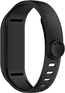 KESHIKUI New Mei WatchBand Fit para Garmin VIVOFIT 3 Reemplazo Soft Silicone Strap Watch Band Accessory Pulseras Ajuste pa...