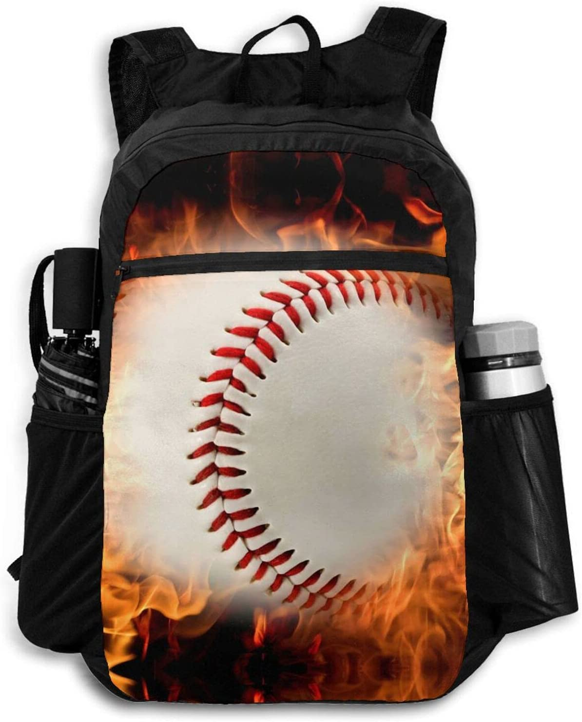 Zolama Baseball on Fire Backpacks for Limited time online shopping trial price Da Cute Men Packable Women