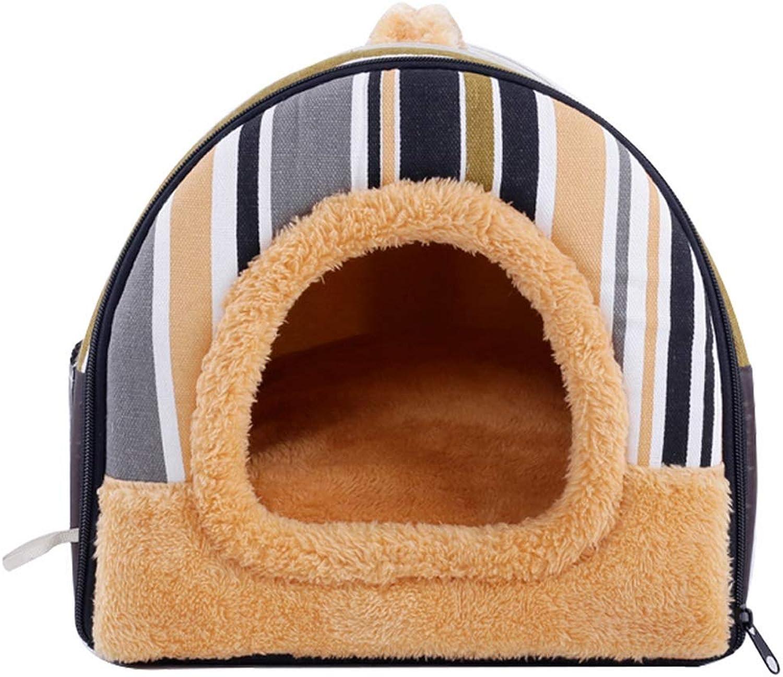 Rainbow Pet Wo Teddy Kennel Dog Supplies Dog Mat Detachable House 30  30  25cm 45  36  33cm 58  44  42cm (color   Black White, Size   M)