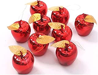 Limado 12pcs Cute Christmas Tree Xmas Apple Decorations Baubles Party Wedding Charming Events Fruit Pendant Hanging Ornament (Red)