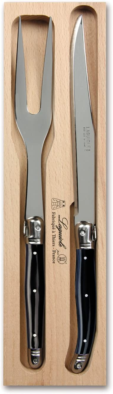 Laguiole 2 Piece Carving Knife San Francisco Mall Fork Max 41% OFF Bl Display Set Box with in