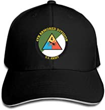 Army 4th Armored Division Classics Adjustable Visor Hat Baseball Cap Sun Hat