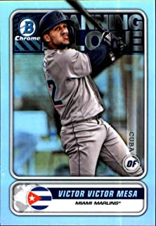 2020 Bowman Chrome Spanning the Globe #STG-VVM Victor Victor Mesa Miami Marlins RC Rookie MLB Baseball Trading Card
