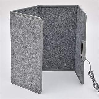 Heater Estilo japonés eléctrico Plegable Panel Calefactor con termostato con Tela Caliente Cubiertas para Oficina Dormitorio,Gris