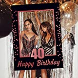LaVenty Rose Gold 40th Birthday Party Photo Booth Props 40th Birthday Photo Frame Birthday Photo Frame