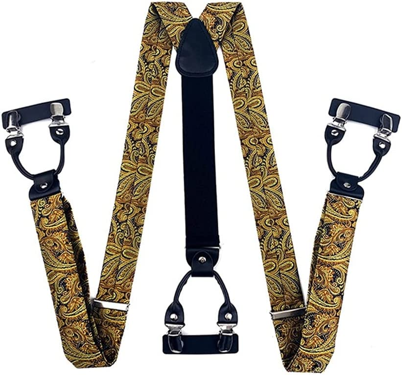 SKREOJF Braces/Suspenders One Size Fully Adjustable Y Shaped with Strong Clips (Color : A, Size : Adjustable)