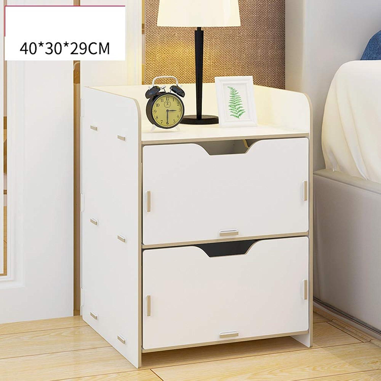 Lagerregal ZHIRONG 2 Schublade Nachttisch Moderne Schlafzimmer Tisch Mbel 29  30  40 cm (Farbe   Wei)