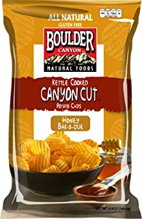 Boulder Canyon Kettle Cooked Potato Chips, Honey Bar-B-Que, 6.5 Ounce (Pack of 12)