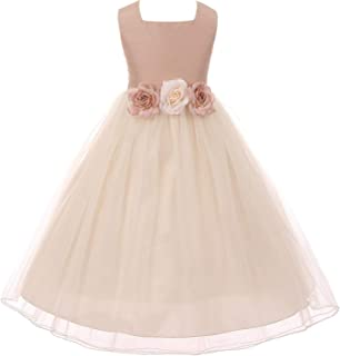 dupioni silk flower girl dresses