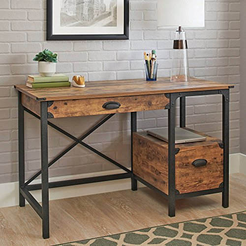 Better Homes and Gardens Rustic Country Desk, Weathered Pine Finish (Weathered, 1)