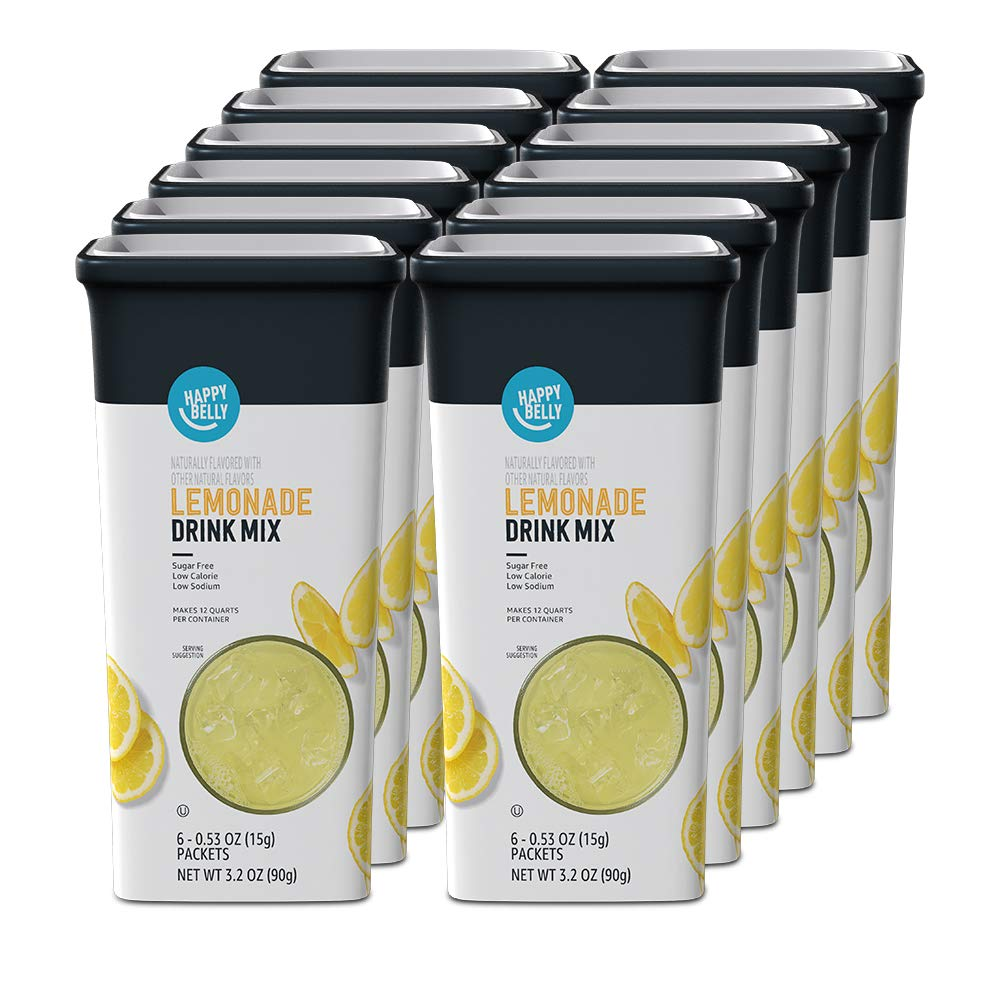 Amazon Brand All stores are sold Great interest - Happy Belly Drink Mix Total Lemonade 72 Singles