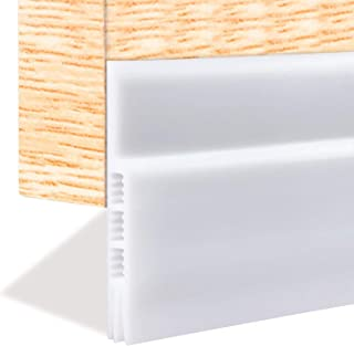 Weather Stripping for Doors, Draft Stopper Door Strip Guard Under Door Draft Blocker Door Sweep Threshold (White 2
