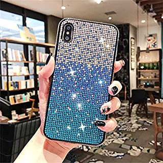 Luxury Crystal Iphone 11 Pro Case Cute Delicate and Special Design of Gradient Color Change-Pieces of small shinning cryst...